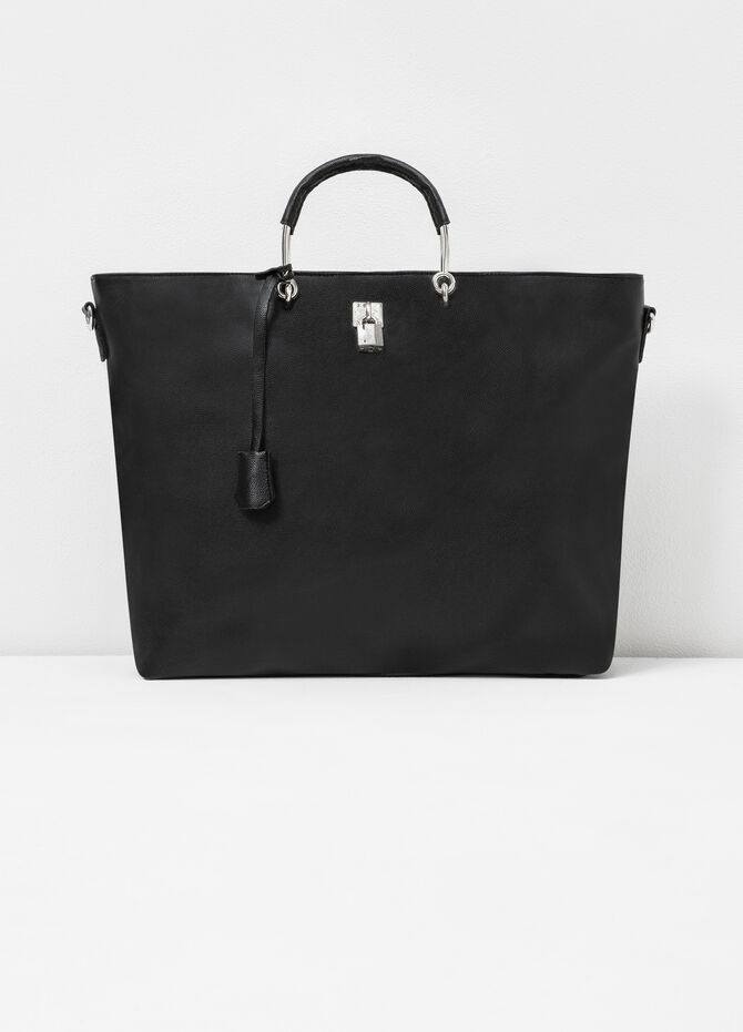 Leather-look bag with lock