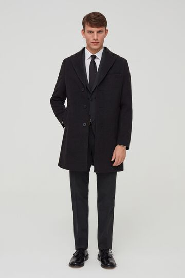 Cappotto con revers slim fit